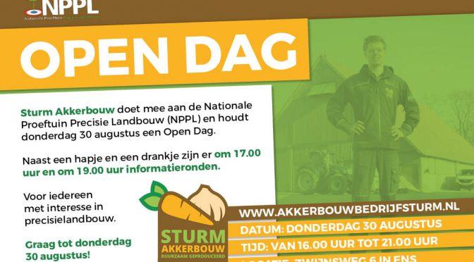 30 augustus Open dag Sturm Akkerbouw